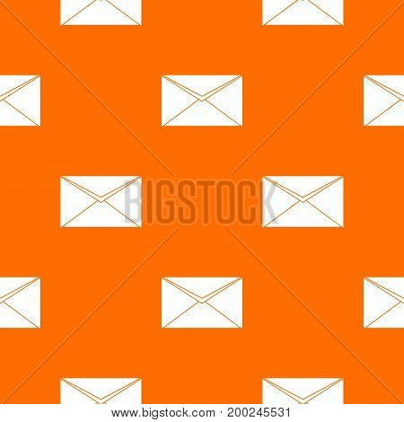 Closed envelope pattern repeat seamless in orange color for any design. Vector geometric illustration