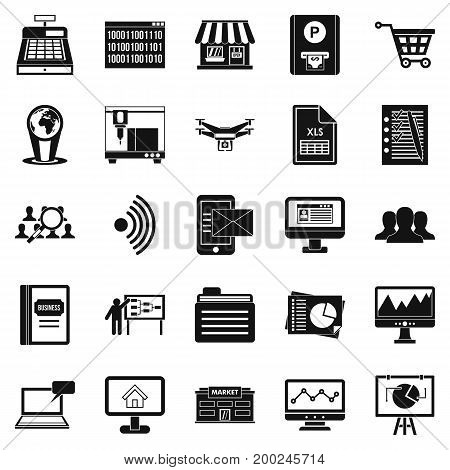 Contactless payment icons set. Simple set of 25 contactless payment vector icons for web isolated on white background