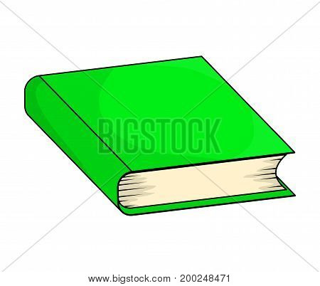Closed Book Vector Symbol Icon Design. Beautiful Illustration Isolated On White Background
