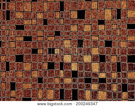 Abstract colorful background image with crazy squares