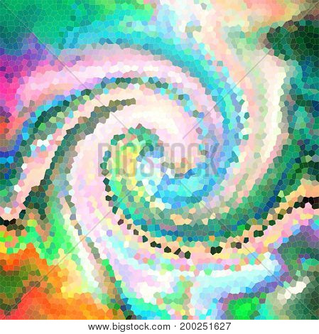 Abstract coloring background of the horizon gradient with visual wave,twirl,mosaic,jitter and lighting effect