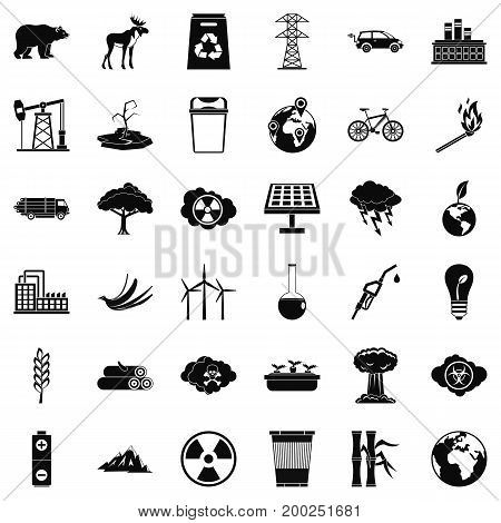 Our ecology icons set. Simple style of 36 our ecology vector icons for web isolated on white background