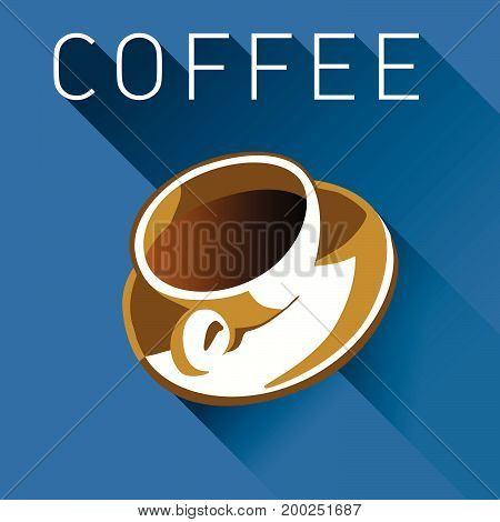 Coffee graphic in multiple colors for print or web