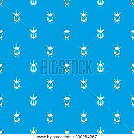 Weevil beetle pattern repeat seamless in blue color for any design. Vector geometric illustration