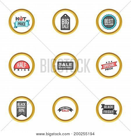 Promotion icons set. Cartoon illustration of 9 promotion vector icons for web design