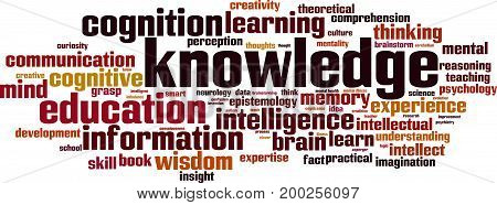 Knowledge word cloud concept. Vector illustration on white