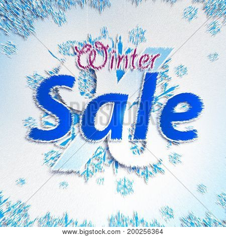 Winter Sale. Christmas balls on withe background