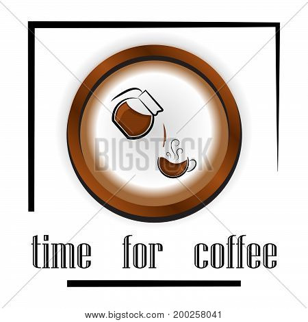 banner design for coffee shop restaurant menu cafeteria. There is always time for coffee . background with a coffee cup for cafe. banner for coffee break time.