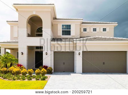 A Finished single family house for sale.