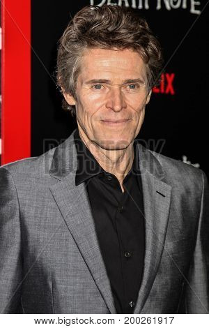 NEW YORK, NY - AUGUST 17: Actor Willem Dafoe attends the 'Death Note' New York premiere at AMC Loews Lincoln Square 13 theater on August 17, 2017 in New York City