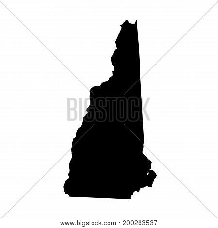 Map of the U.S. state of New Hampshire on a white background.