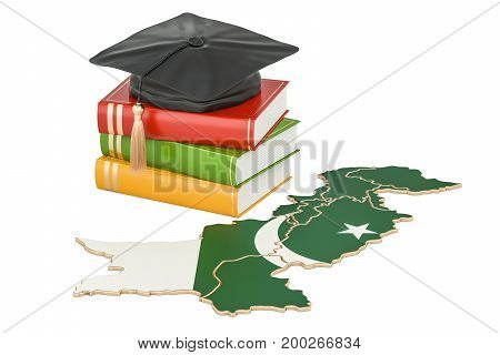 Education in Pakistan concept 3D rendering isolated on white background