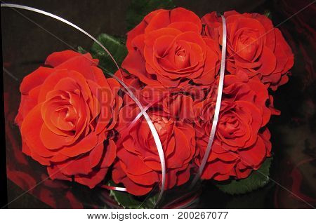 beautiful bouquet of red roses to your loved ones holidays birthday Valentine's Day wedding