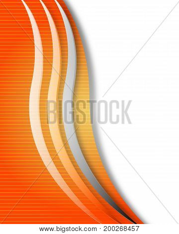 Abstract orange line background, vector art illustration.