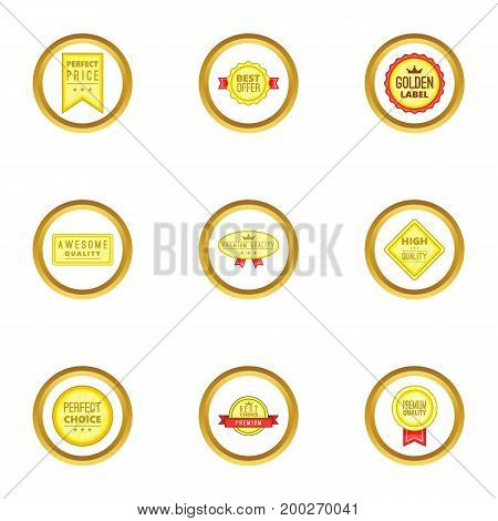 Trophy icons set. Cartoon illustration of 9 trophy vector icons for web design