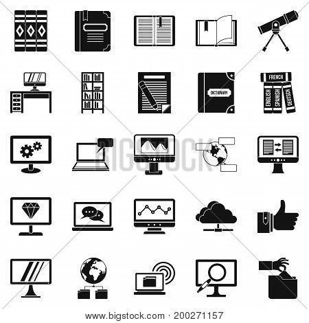 Explorer icons set. Simple set of 25 explorer vector icons for web isolated on white background