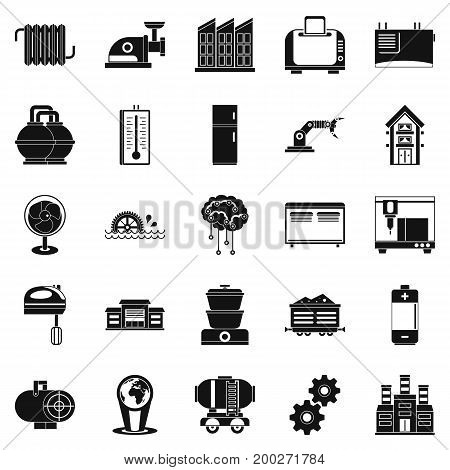 Electrical engineering icons set. Simple set of 25 electrical engineering vector icons for web isolated on white background