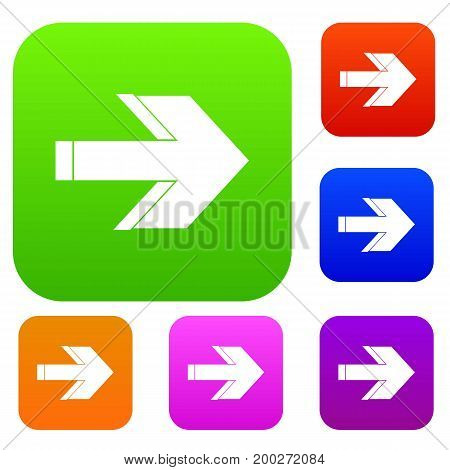 Arrow set icon in different colors isolated vector illustration. Premium collection
