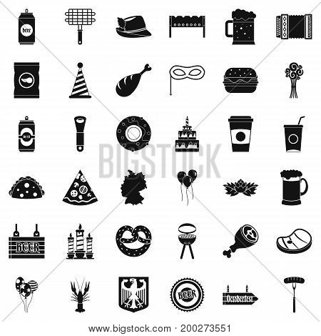 Beer bottle icons set. Simple style of 36 beer bottle vector icons for web isolated on white background