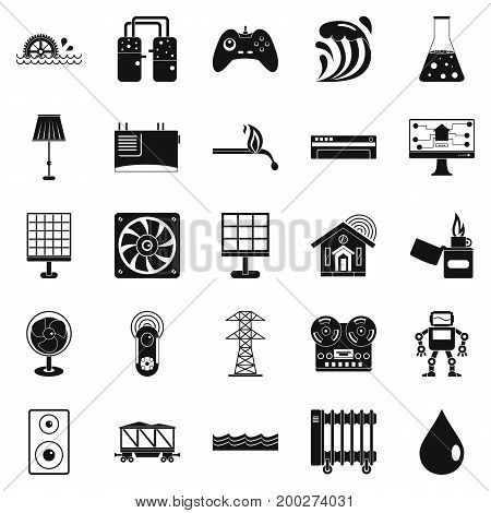 Petroleum icons set. Simple set of 25 petroleum vector icons for web isolated on white background