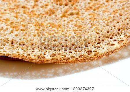 Pancake. Tasty hot breakfast. Delicious snack. Macro.
