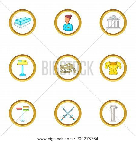 Gallery icons set. Cartoon illustration of 9 gallery vector icons for web design