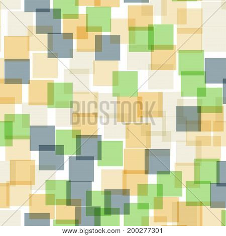 Abstract Squares Pattern. White Geometric Background. Awesome Random Squares. Geometric Chaotic Deco