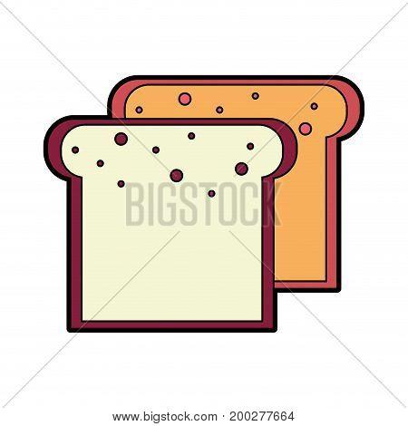 tasty and fresh slice bread vector illustration