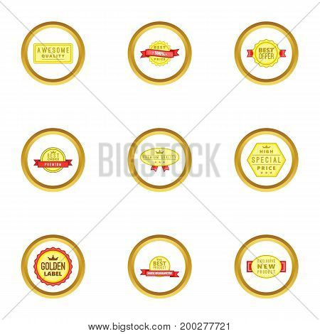 Medal icons set. Cartoon illustration of 9 medal vector icons for web design