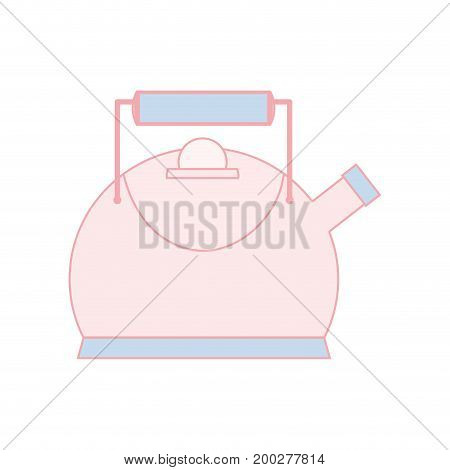 classical and elegant teapot ktchen utensil vector illustration