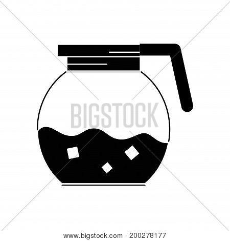 contour delicious coffee in the crystal jar espresso vector illustration