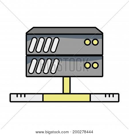 database technology to server connection vector illustration