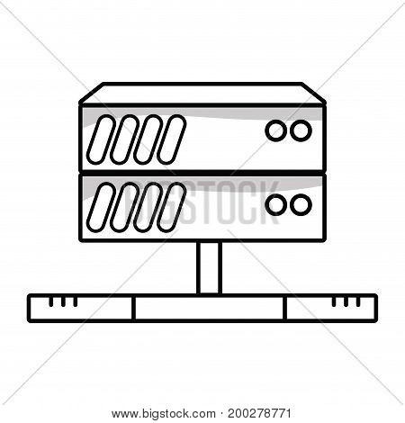 line database technology to server connection vector illustration