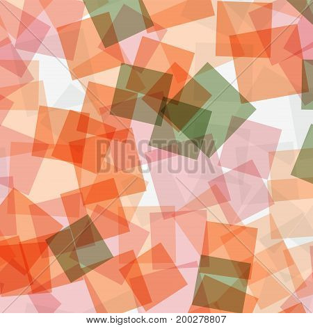 Abstract Squares Pattern. White Geometric Background. Marvelous Random Squares. Geometric Chaotic De