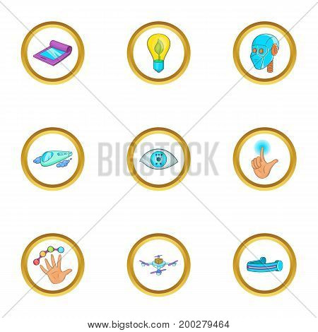 New thing icon set. Cartoon style set of 9 new thing vector icons for web isolated on white background