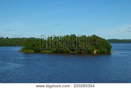 Landscape on the River Volga, Chuvashia, Russia