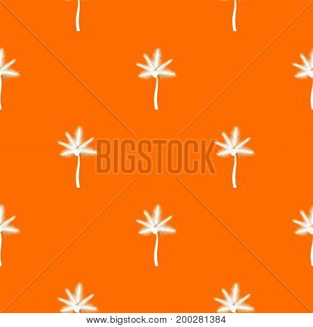 Palm butia capitata pattern repeat seamless in orange color for any design. Vector geometric illustration
