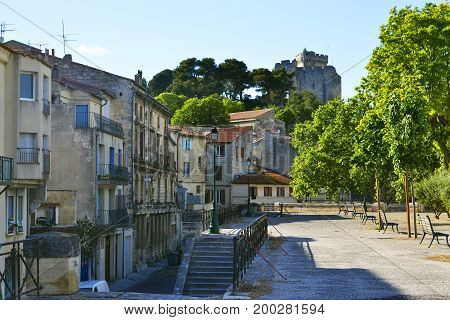 View on medieval castle of Tarascon France