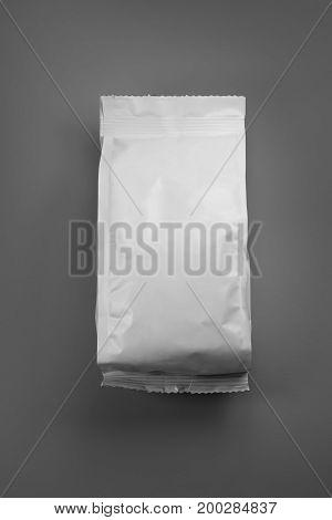 blank or white plastic bag snack packaging