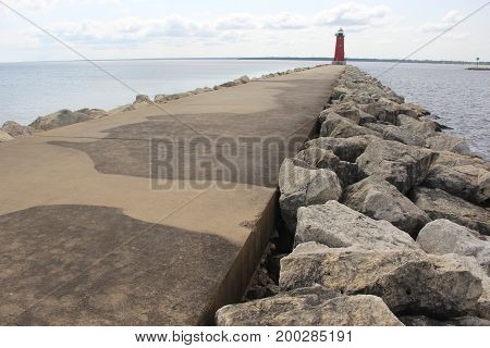 Manistique East Breakwater Light, Manistique, Upper Peninsula of Michigan