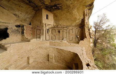 View of Balcony House in Mesa Verde, Colorado