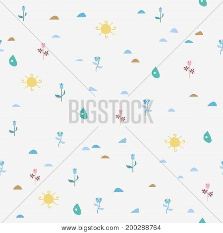 Simple Seamless Floral Pattern.For backgrounds, wallpapers, fabric, prints, textiles, textures, wrapping, cards, cover.