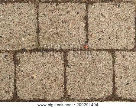 Close up of cobblestone background view from above