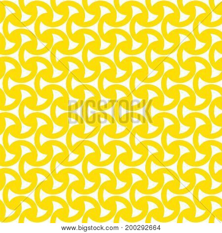 Geometric tiles with triangles. Modern stylish texture.Yellow and white