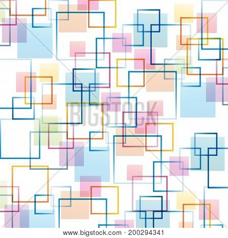 Vector squares abstract  background concept of network