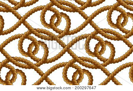 Rope Vector Seamless Pattern