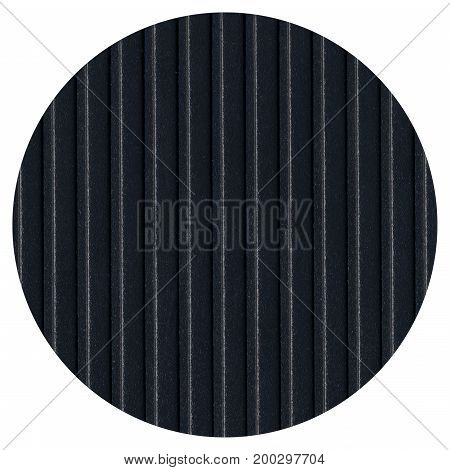 Round Black Steel Mesh Texture Background Isolated Over White