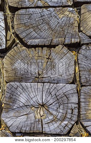 Old Sleeper Cracked Wood Texture High Contrast Background