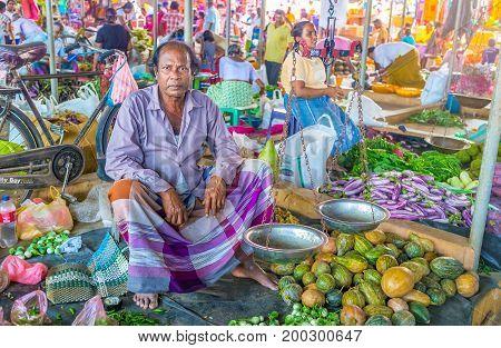 Old Merchant In Sarong
