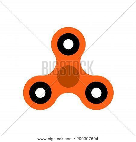 FLAT Fidget spinner on white background vector illustration